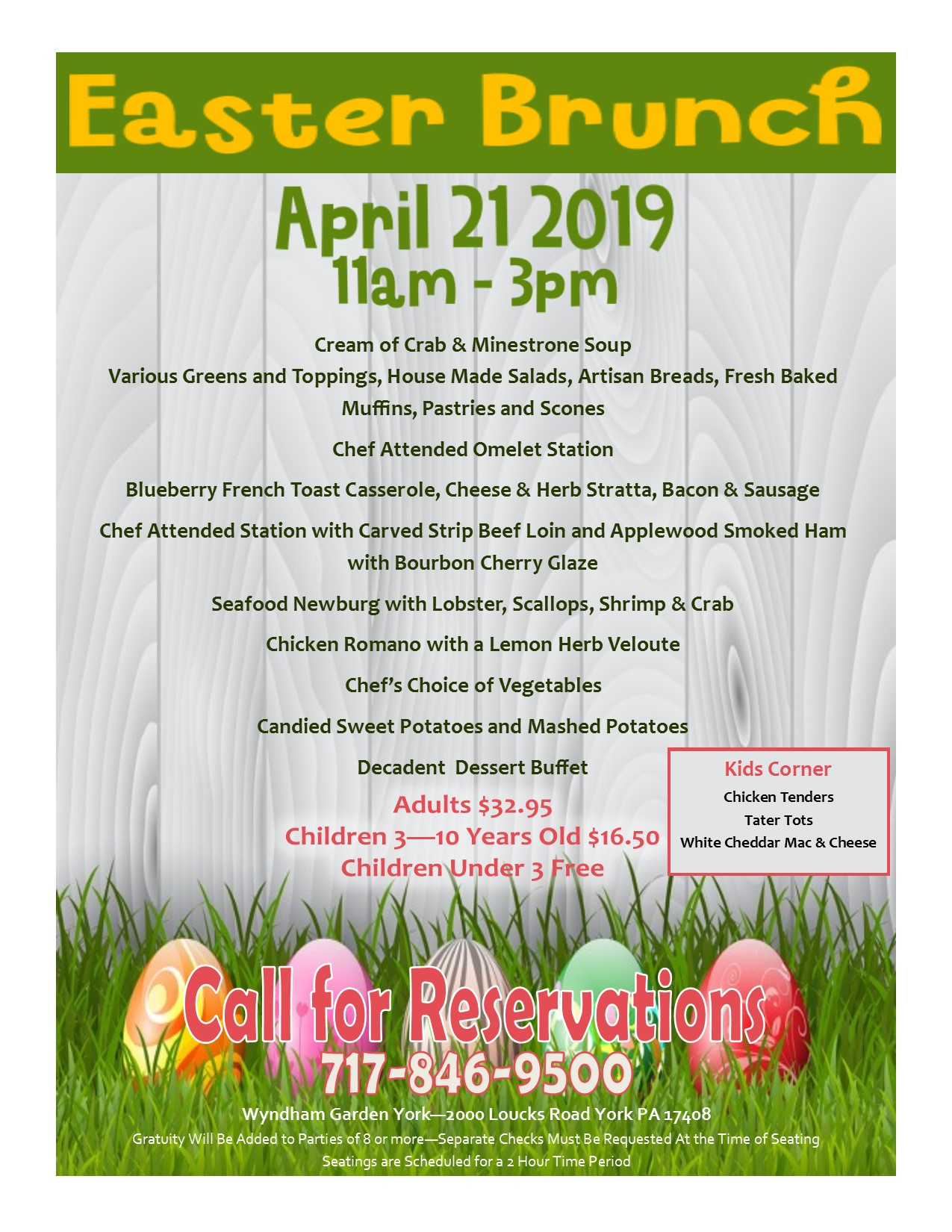 2019 Easter Buffet in York PA